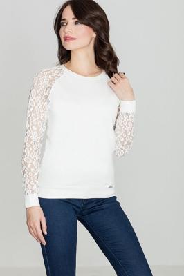 Bluza cu maneci dantela Model 119285 Lenitif bej