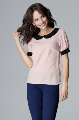 Bluza maneca scurta Model 123543 Lenitif roz
