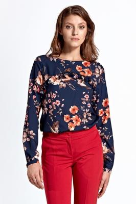 Bluza cu imprimeu floral Model 123641 Colett Bleumarin