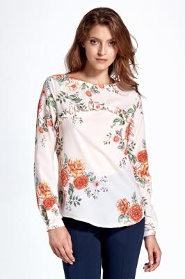 Bluza cu imprimeu floral Model 123646 Colett bej