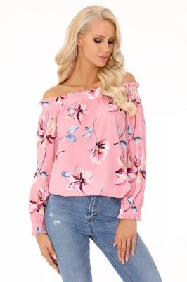 Bluza cu umerii goi Model 148843 Merribel roz