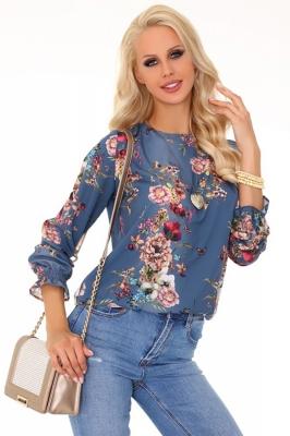 Bluza cu imprimeu floral Model 148844 Merribel albastru