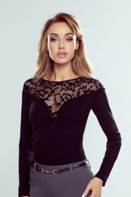 Bluza eleganta cu dantela Model 151794 Eldar negru