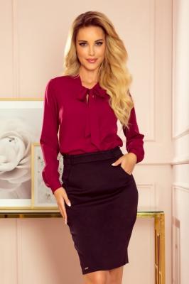 Bluza eleganta cu funda Model 152303 Numoco rosu