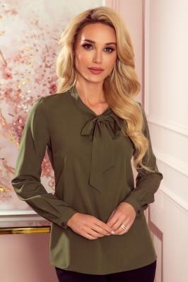 Bluza eleganta cu funda Model 152836 Numoco verde