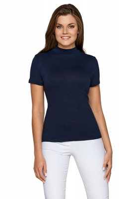 Bluza mulata cu maneca scurta Model 153528 Babell Bleumarin
