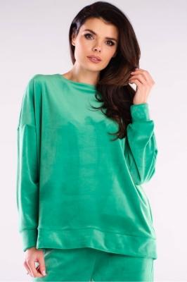 Bluza sport tip catifea Model 155474 awama verde