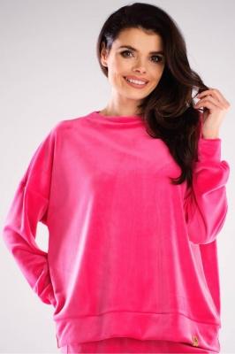 Bluza sport tip catifea Model 155475 awama roz