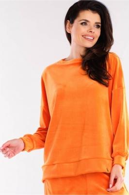 Bluza sport tip catifea Model 155477 awama portocaliu