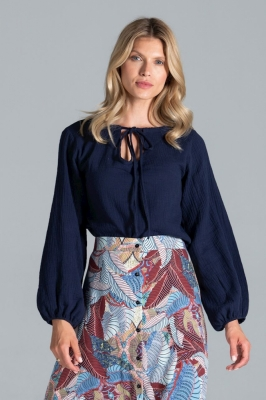 Bluza eleganta maneca lunga Model 157550 Figl Bleumarin