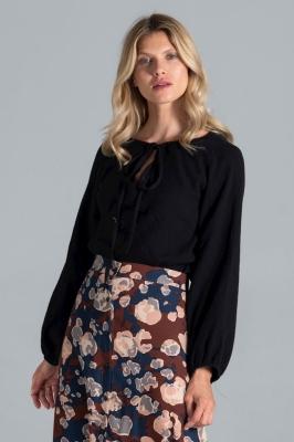 Bluza eleganta maneca lunga Model 157551 Figl negru