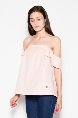 Bluza cu umerii goi Model 77566 Venaton roz
