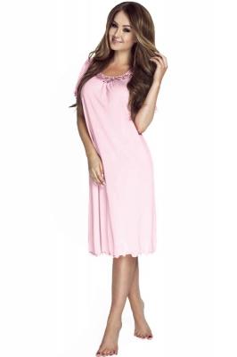 Camasa de noapte model 108475 Mewa roz