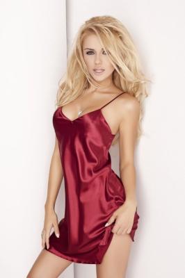 Camasa de noapte model 121695 DKaren rosu