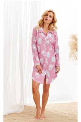 Camasa de noapte model 150465 Taro roz