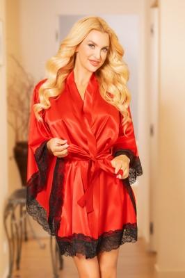 Camasa de noapte model 157912 Kalimo rosu