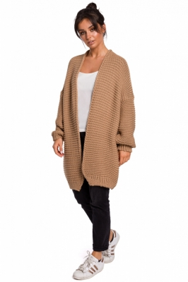 Cardigan tricotat lung Model 136426 BE Knit bej