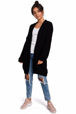 Cardigan tricotat lung Model 136428 BE Knit negru
