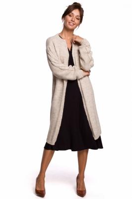 Cardigan tricot lung iarna Model 148259 BE Knit bej