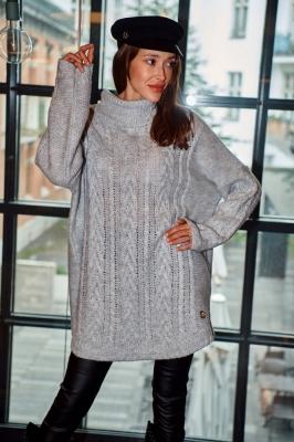 Helanca iarna tricot Model 150423 Lemoniade gri