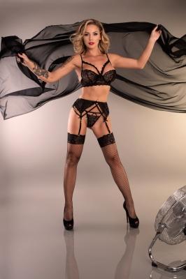 Lenjerie sexy completa model 150278 Livia Corsetti Fashion negru