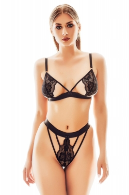 Lenjerie sexy completa model 155864 Anais negru