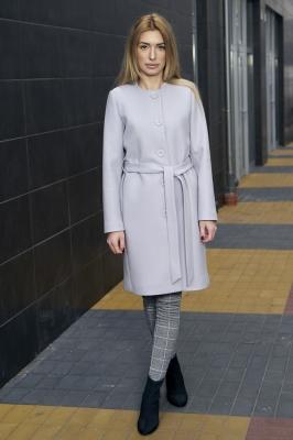Palton elegant cu cordon Model 112368 Mattire gri