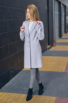 Palton elegant Model 122805 Mattire gri