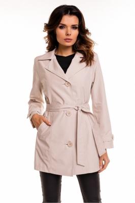 Palton scurt cu cordon Model 63550 Cabba bej