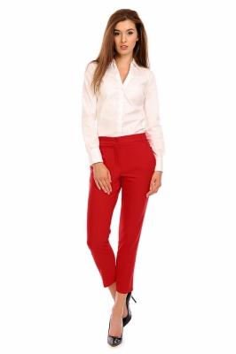 Pantaloni eleganti Model 118958 Cabba rosu