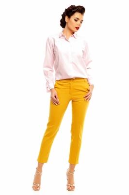 Pantaloni eleganti Model 128507 Cabba galben