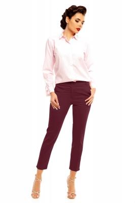 Pantaloni eleganti Model 140607 Cabba rosu