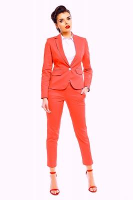 Pantaloni eleganti Model 142419 Cabba portocaliu