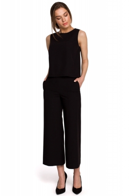 Pantaloni culotte Model 154108 Style negru