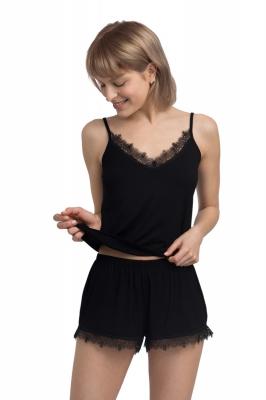Pantaloni scurti model 155787 LaLupa negru