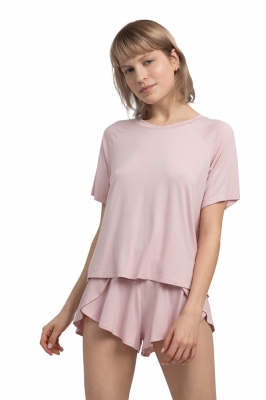 Pantaloni scurti model 155796 LaLupa roz