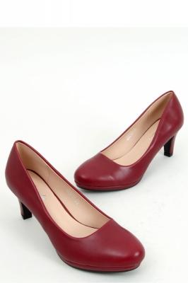 Pantofi cu toc si platforma model 158214 Inello rosu