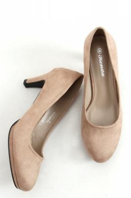 Pantofi cu toc si platforma model 158217 Inello bej