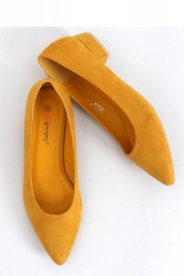 Pantofi cu toc simplu model 153393 Inello galben