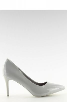 Pantofi cu toc subtire (stiletto) model 128168 Inello gri