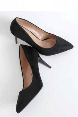 Pantofi cu toc subtire (stiletto) model 151416 Inello negru