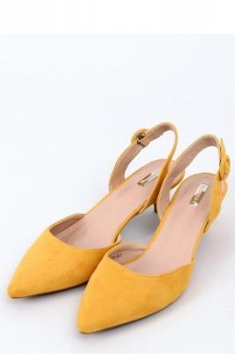 Pantofi cu toc subtire (stiletto) model 154135 Inello galben