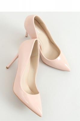 Pantofi cu toc subtire (stiletto) model 155191 Inello bej
