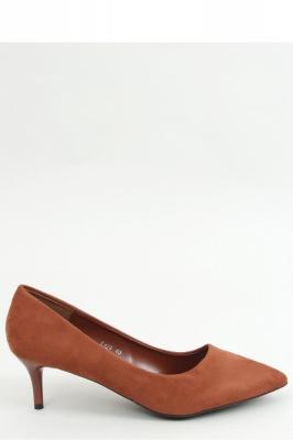 Pantofi cu toc mic eleganti Model 157237 Inello maro