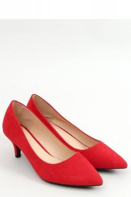 Pantofi cu toc mic eleganti Model 157238 Inello rosu