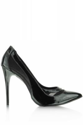 Pantofi cu toc subtire (stiletto) model 42579 Heppin negru