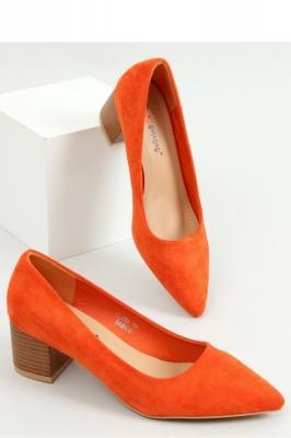 Pantofi dcu toc gros model 155237 Inello portocaliu