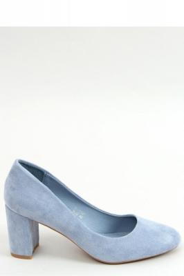 Pantofi dcu toc gros model 155590 Inello albastru