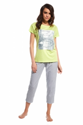 Pijama model 110818 Cornette verde