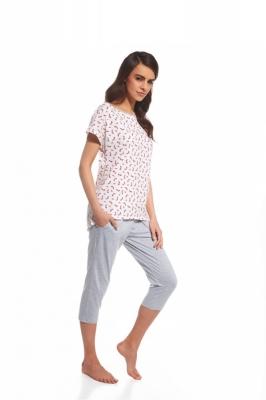 Pijama model 110831 Cornette roz